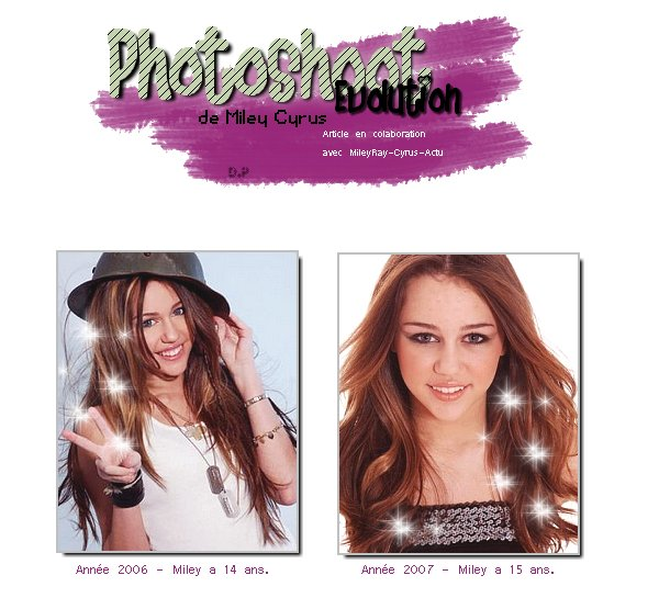 PHOTOSHOOT EVO' DE MILEY C. Article en collaboration avec MileyRay-Cyrus-Actu