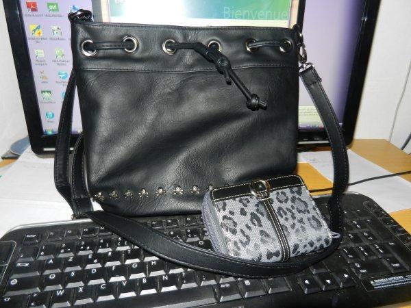 Mon nouveau sac et mon nouveau porte monaie