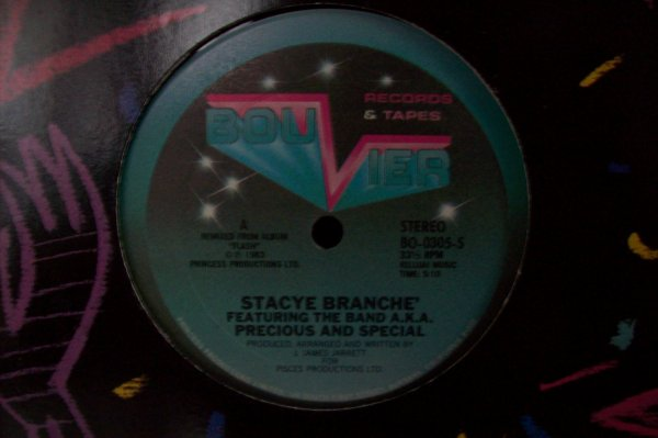 Stacye BRANCHE' Feat BAND AKA - Precious And Special 1983 BOUVIER & Tapes Records.