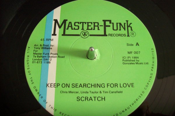 SCRATCH - Keep On Searching For Love 1984 MASTER FUNK Records.