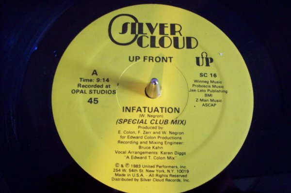 UP FRONT - Infatuation 1983 SILVER CLOUND.