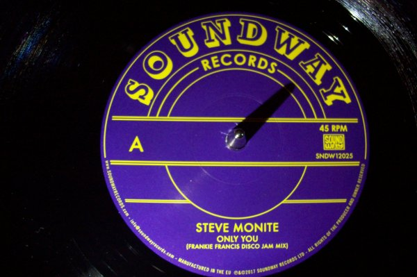 Steve MONITE - Only You  ( Frankie Francis Disco Mix ) SOUND WAY Records.
