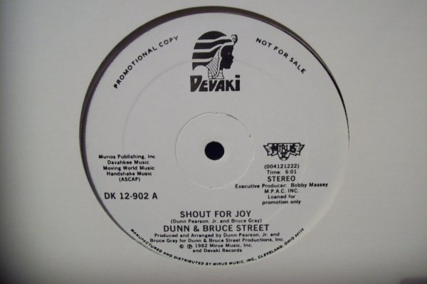 DUNN & BRUCE STREET - Shout For Joy 1982 DEVAKI Records