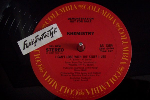 KHEMISTRY - I Can't Lose With The Stuff I Use 1982 MAXI  COLUMBIA