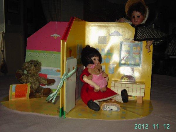 lBleuette et Loulotte sont en visite chez petit ours brun