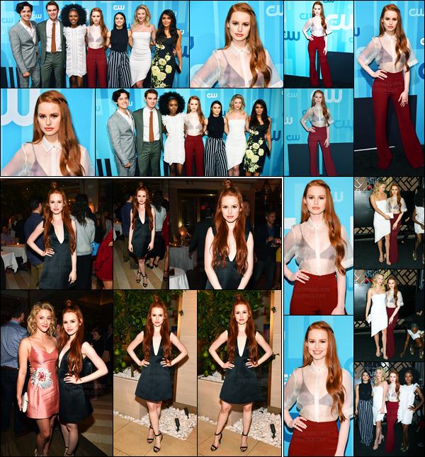18.05.2017 ─ Madelaine Petsch était présente à l'événement «The CW Network's 2017 Upfront» dans New-York.C'est encore une fois en compagnie du cast de Riverdale que la belle actrice était présente... Concernant sa tenue, c'est un beau top de ma part, avis ?