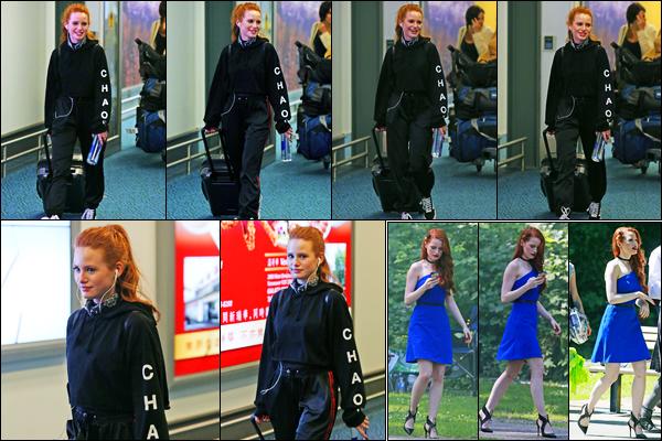 26.06.2017 ─ Madelaine Petsch a été photographiée alors qu'elle arrivait à l'aéroport dans Vancouver au Canada.Un peu plus tard après son arrivé, la belle a été photographiée sur le set de Riverdale. Nous avons peu de photo de Madelaine P... Sa tenue c'est un top !