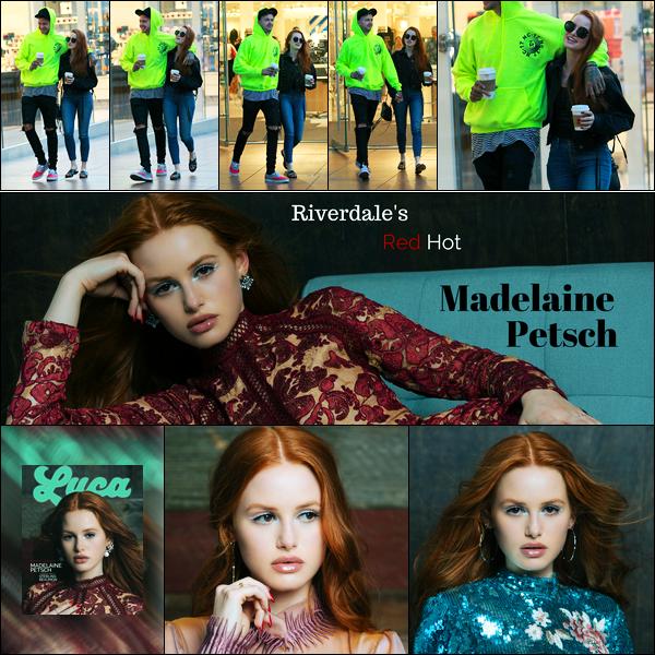 -14/08/2017- ─ Madelaine Petsch a été photographiée alors qu'elle faisait du shopping au « Grove » étant à Los Angeles.C'est accompagné, comme d'habitude, par son petit-ami, que nous retrouvons notre belle Made. Peu de photos... Découvrez un nouveau shoot... Un top