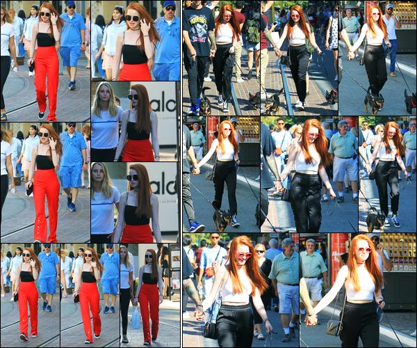 05.09.2017 ─ Madelaine Petsch a été photographiée alors qu'elle faisait du shopping au « Grove », à Los Angeles.C'est le 09/09 que nous retrouvons une nouvelle fois, Madelaine Petsch au Groove avec son petit ami cette fois-ci.. Concernant ses tenues, sont des tops.