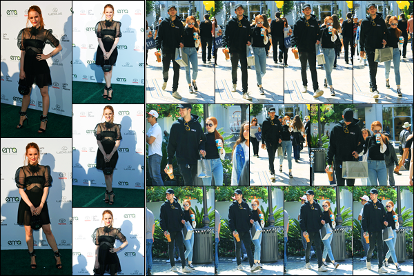 23.09.2017 ─ Madelaine Petsch était présente lors de la soirée « Environmental Media Awards », à Santa Monica.La belle était présente avec son petit-ami, Travis. Plus tôt, elle a été photographiée faisant du shopping au grove comme d'habitude. Sa tenue est un top