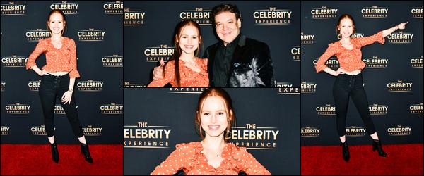 -07/01/2018- ─ Madelaine Petsch était présente lors de l'événement « The Celebrity Experience », étant dans Hollywood.Enfin une sortie sans son amoureux pour une fois ! La magnifique rousse a posée dans une tenue très simple mais très jolie, c'est un beau top pour moi.