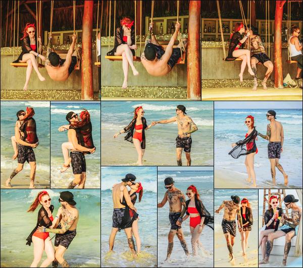 -12/04/2018- ─ Madelaine Petsch a été photographiée alors qu'elle fêtait l'anniversaire de son petit-ami, étant à Cancun !La belle est partie en vacances au Mexique en compagnie de son chéri afin de pouvoir fêter l'anniversaire de celui-ci. Concernant son maillot, un beau top
