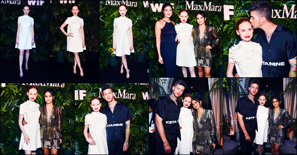 -12/06/2018- ─ Madelaine Petsch était présente à la soirée « Max Mara WIF Face Of The Future » étant dans Los Angeles.Evidemment, c'était en compagnie de Travis Mills qu'elle était présente. Elle également posée avec Camila Mendes ! Sa tenue est un beau top pour moi !