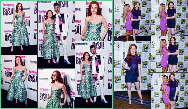 -21/07/2018- ─ Madelaine Petsch était présente à la soirée de « Entertainment Weekly » pour la Comic-Con à San Diego !La belle actrice Madelaine était également présente dans la journée à « Riverdale : Press Line »... Concernant ses tenues, c'est deux tops pour ma part !