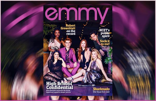 Madelaine fait la couverture du « EMMY » avec le cast de Riverdale d'Août !