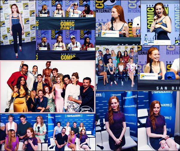 -22/07/2018- ─ Madelaine Petsch était présente pour la série « Riverdale » pour la Comic-Con, étant dans San Diego, CA !La veille également ils étaient présent pour la Comic-Con et également à la radio « SiriusXM's » avec le casting... Concernant ses tenues, c'est des tops !