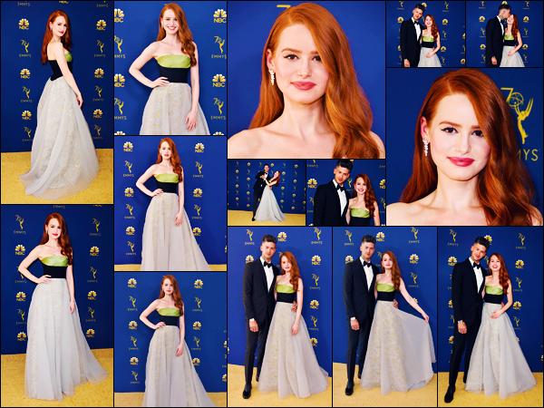 -17/09/2018- ─ Madelaine Petsch était présente lors de la cérémonie des « Emmy Awards », ayant lieu dans Los Angeles !La belle actrice était présente pour la première fois à la cérémonie en compagnie de Travis ! Concernant la tenue de celle-ci, c'est un beau top de ma part