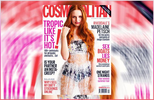 Mad' fera la couverture de « Cosmopolitan Australia » du mois de Novembre