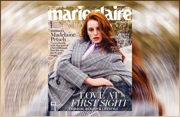 - '-● MAGAZINE- Madelaine Petsch a pris la pose pour « Marie Claire Malaysia » pour février ! -