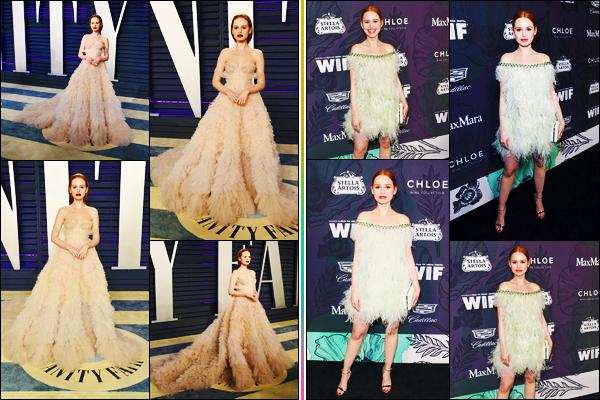 -24/02/2019- ─ Madelaine Petsch était présente lors de la cérémonie « Vanity Fair Oscar Party » étant dans - Los Angeles.Deux jours auparavant, l'actrice était présente au « 12th Annual Women In Film Oscar Party ». Concernant ses tenues, c'est des beaux tops, de ma part.