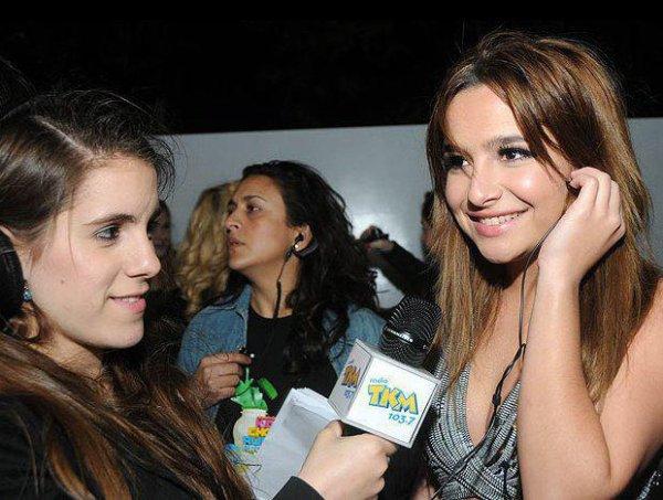"""Brenda à la cérémonie des Kid Choice Awards Argentina 2011 où elle était nominée dans la catégorie """"Meilleure actrice""""."""