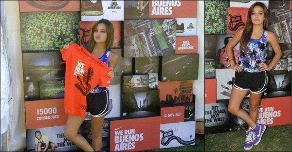 """Brenda a participé au marathon """"We run Buenos Aires"""" de 10km."""