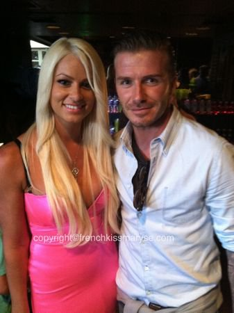 Maryse & David Beckham