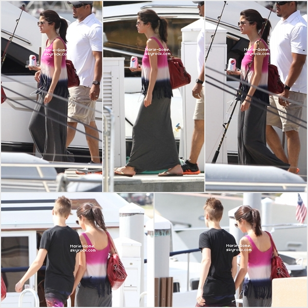 -------------------------------------------- 11 MARS 2012 : Selena et Justin on prit du bon temps sur un bateau pour aller pêcherà St Petersburg     --------------------------------------------