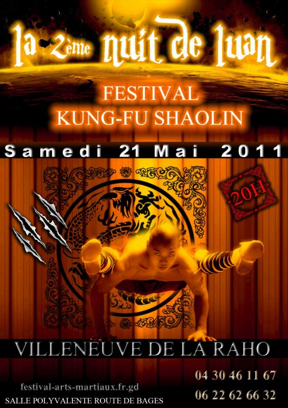 2eme Nuit de LUAN - Festival d'arts Martiaux Villeneuve de la Raho - Salle Polyvalente route de Bages