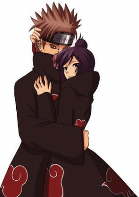 Couple Pain + Konan <3 I love Akastuki Forever <3
