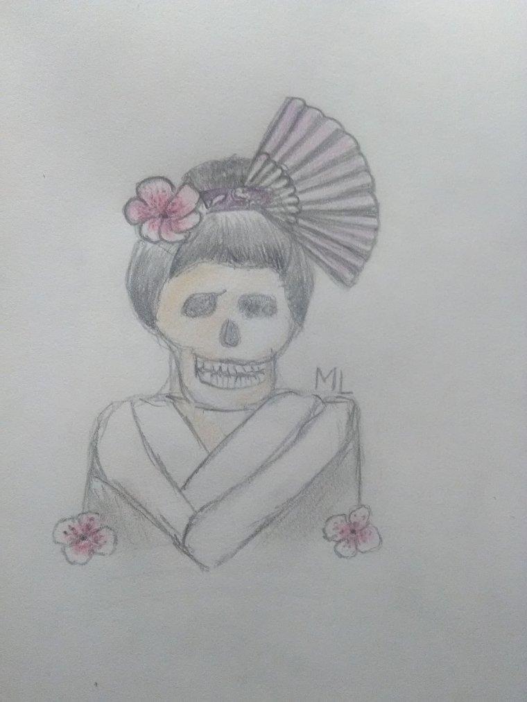 ♠ Geisha Tête de Mort ♠
