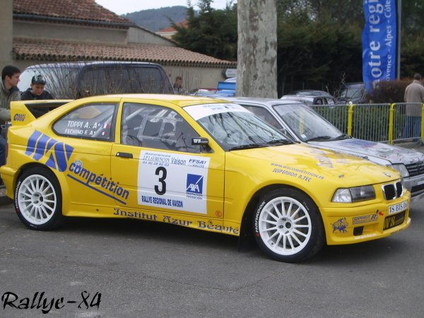 Rallye de Vaison 2008 - Fechino/BMW Compact