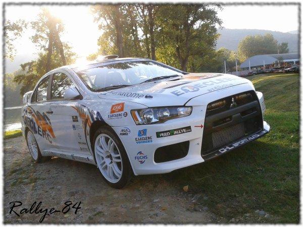 Rallye Mauves & Plats 2011 - Lecureux/Mitsubishi Evo 10