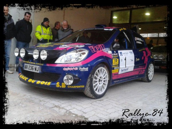 Rallye hivernal des Hautes-Alpes 2012 - Barneaud/Clio R3