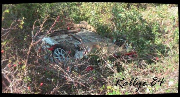 Rallye Mauves-Plats 2012 - Crash Citroën Ax & Renault Mégane
