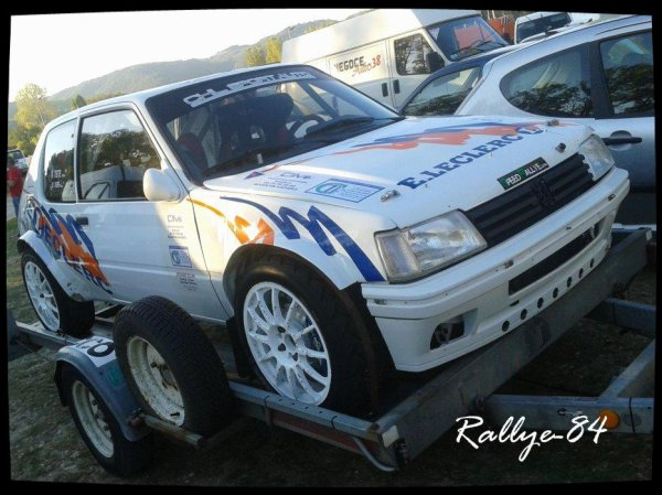 Rallye Mauves-Plats 2012 - Tete/Peugeot 205