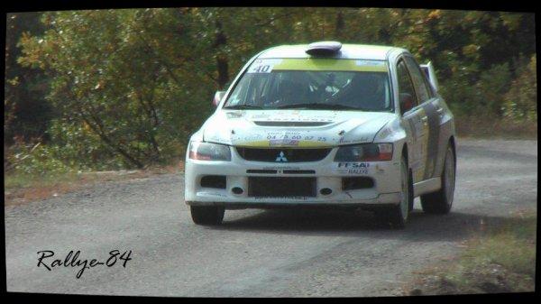 Finale coupe de France des rallyes Gap 2012 - Lacomy/Mitsubishi Lancer Evo 9
