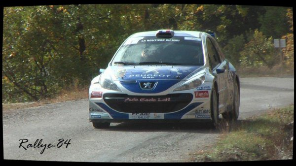 Finale coupe de France des rallyes Gap 2012 - Latil/Peugeot 207 S2000