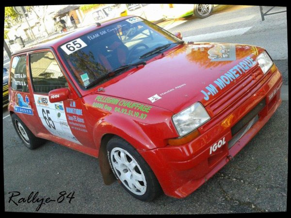 Rallye de Sarrians 2012 - Getto/Renault 5 Gt Turbo