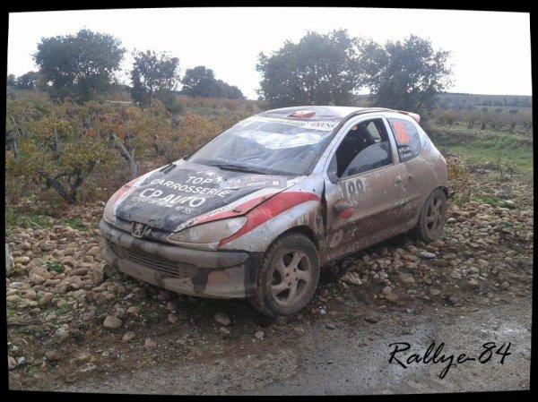 Rallye Terre de Vaucluse 2012 - Les dégats du terre
