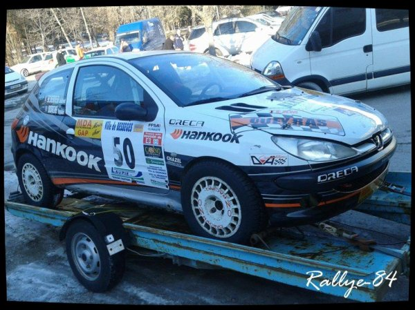 Rallye hivernal des Hautes-Alpes 2013 - Scherrer/Peugeot 206