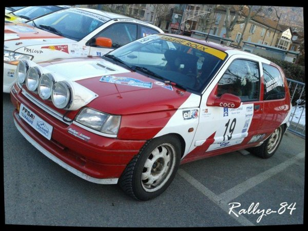 Rallye hivernal des Hautes-Alpes 2013 - Benedetto/Renault Clio