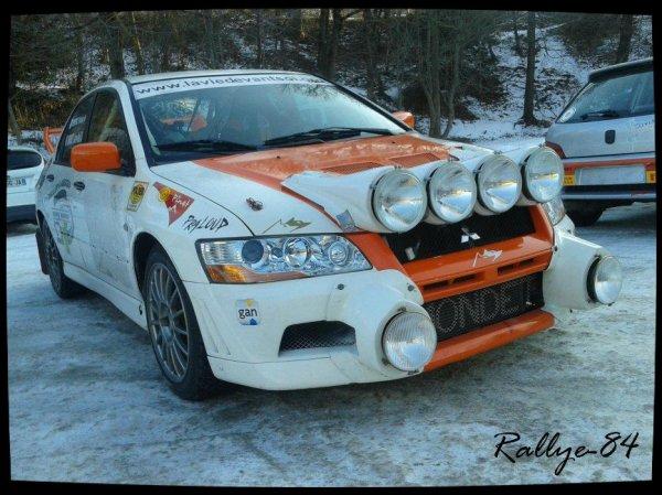 Rallye hivernal des Hautes-Alpes 2013 - Mondet/Mitsubishi Lancer Evo VII