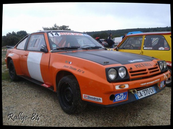 Montée historique de Lioux 2013 - Opel Manta