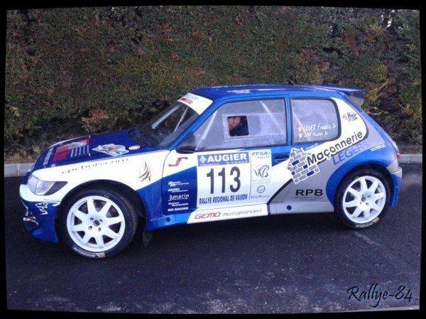 Rallye de Vaison 2014 - Leger/Peugeot 205 rallye