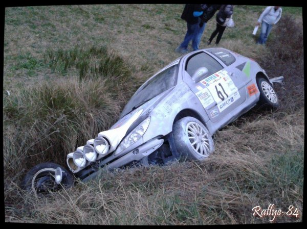 Rallye Haute Provence 2014 - Reynier/Peugeot 206 (Sortie de route Es1)