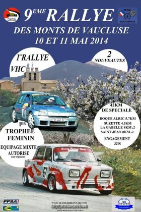 Rallye des Monts Vaucluse 2014