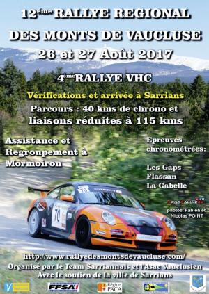 Rallye des Monts de Vaucluse 2017