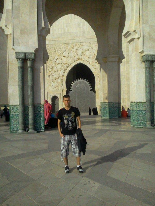 je suis au de la mosquée