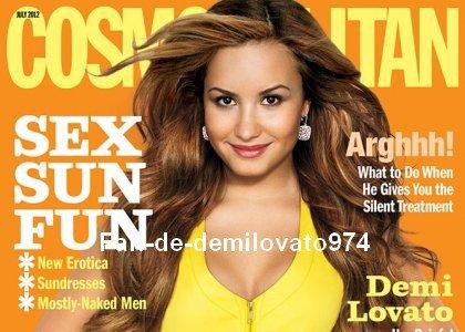 """Demi Lovato fait la couverture d'un magazine appelé """" Cosmopolitan """""""